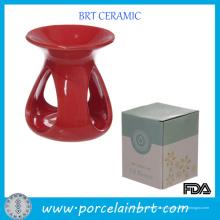 Presentes Ceramic Red Teadrop Aroma Burner