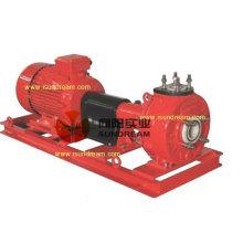 Pompe centrifuge chimique non corrosive doublure en plastique