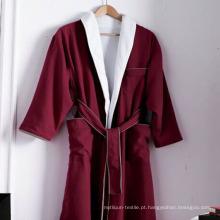 Roupão de algodão cara dupla e pijamas para o hotel (dpf10141)