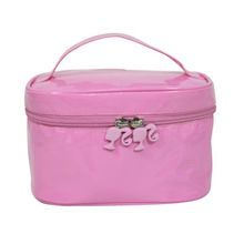 Leather Cosmetic Bag, Suitable for Promotions and Gifts, Zipper Around with 2 PullersNew
