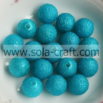 New Style 2014 8MM Acrylic Wrinkled Chunky Beads Round Spacer Beads Blue Color