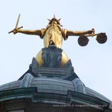 Modèles populaires Célèbre Vie Taille Bronze Lady Justice Statue