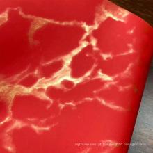 Couro impresso de imitação de relevo do plutônio do HotPress do mármore