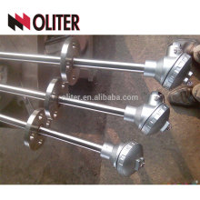 oliter thermocouple with explosion proof head interrupter stainless steel junction box stainless steel straight probe