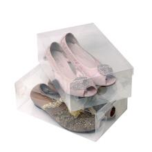 Caja plegable plástica de los zapatos (caja de zapato clara)
