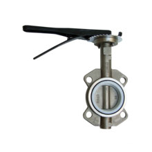 Wafer Type Stainless Steel Butterfly Valve with Lever Operator