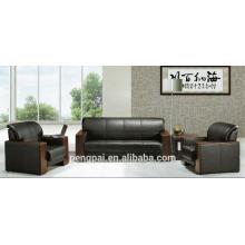 Luxury modern leather office sofa set 1 2 3 seater mid Asia sofa