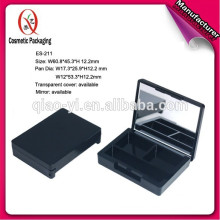 ES-211 empty plastic eyeshadow container with mirror