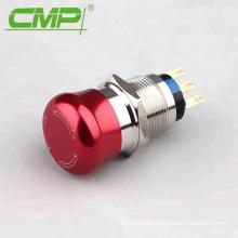 Interruptor de parada de emergencia impermeable de la seta de la aleación de aluminio de 19m m IP67