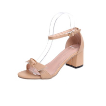 Donne Bowknot Chunky Block Heel Shoes