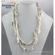 Freshwater Special Shape Chicken Claw Real Pearl Necklace Price