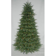 Árbol de Navidad artificial realista con la luz de la secuencia Decoración multi del color LED (AT1079)