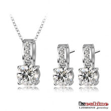Wedding Bridal Pendant& Earrring Jewelry Sets (CST0002-B)