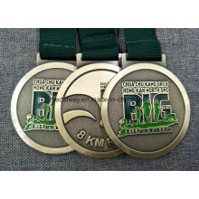 Bronze Personalizado Esmaltado Die Casting Medalha com Cordão