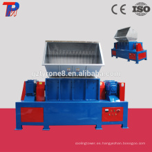 Trituradora de plástico de residuos duraderos con eje doble