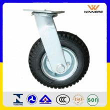 Roda de rodízio pneumática resistente de 240mm 8 polegadas
