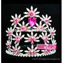 Modelo mais recente moda colorida flor coroa jóias cabelo