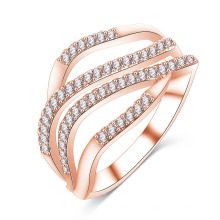Latest Design CZ Ring Diamond Custom Ring for Women (CRI1021)