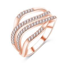 Mais recente design cz anel de diamante anel personalizado para as mulheres (cri1021)
