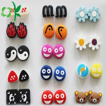 Custom Cute Smile Silicone Tennis Racket Vibration Dampeners