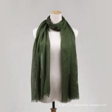Echarpe longue à viscose verte pour femmes