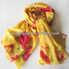 2013 fashion printed girl's winter scarf