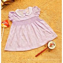 Vestido absorbente de sudor de verano de algodón para niños