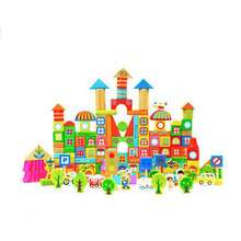 OEM/ODM for Wooden Building Blocks Toys Wooden Educational Colorful 190 Pcs Building Block Set export to Bahamas Manufacturer