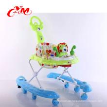 Fabrikverkaufs-sicherer Babywalker mit Sicherheitsgurt / Rad-Babywalker / spätestem Entwurfsgummirad-Babywalker