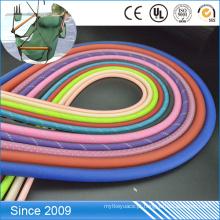 Projete o pvc transparente revestido a corda colorida do poliéster para a corda da trela do cão