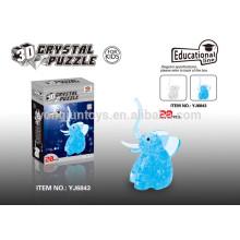Elefante cristalino 20PCS del rompecabezas de DIY para los cabritos