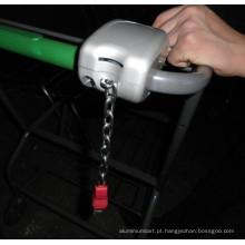 Chaveiro de microplaqueta do carrinho de compras
