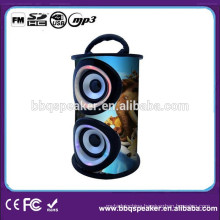 Factory direct wooden portable speakers with usb/sd slot fm radio digital display remote control
