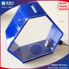 Acrylic Blue Outdoor Donation Box with Reasonable Price