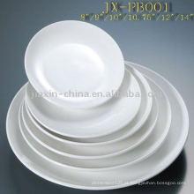 Prato redondo de porcelana para hotelaria JXPB-001