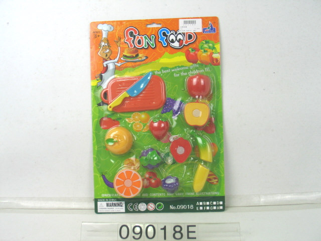 fruit cutting toy set