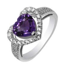 Мода Серебряное кольцо Аметист ювелирные изделия (GR0024)