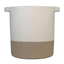 Cuerda de algodón hecha a mano Recibir cesta de frutas Cesto tejido