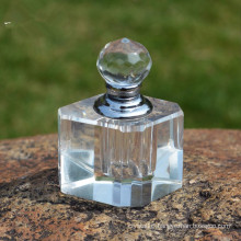 Transparent Crystal Simple Perfume Bottle Cut Faceted Glass Craft