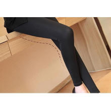Printemps Womens transparente base Super élastique Leggings noirs