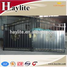 nueva puerta decorativa de la casa del metal del hierro forjado del diseño