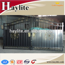 new design decorative forged iron metal house gate