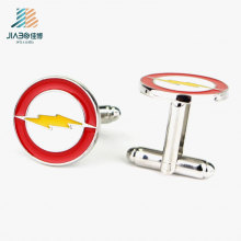 Factory Wholesale Products Alloy Paint Metal The Flash Man Cufflink