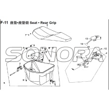 Grip posteriore F-11 XS150T-8 CROX per SYM Spare Part Top Quality