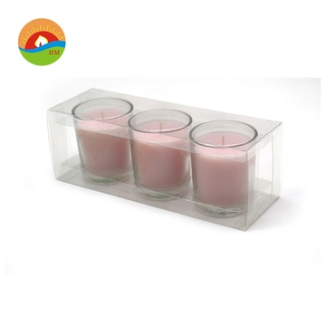 Hot sale mewah Scented Organic Soy Glass Candle