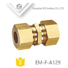 EM-F-A129 Kupplung Messing schnell Außengewinde Rohrverbinder