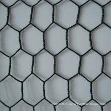 Malla de alambre hexagonal después del recubrimiento de PVC