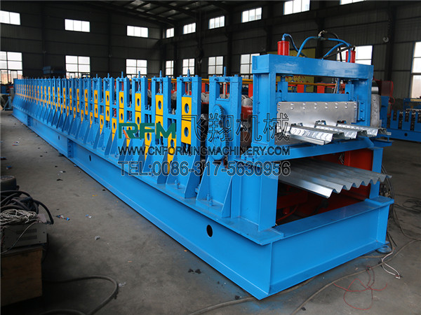 Steel double layer floor deck roll forming machine