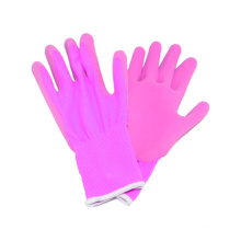 13G Nylon Liner Handschuh mit Latex Coated Foam Fertig