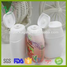 Botella plástica de la salsa de tomate del apretón suave de HDPE modificada para requisitos particulares 40ml con la tapa superior de tirón
